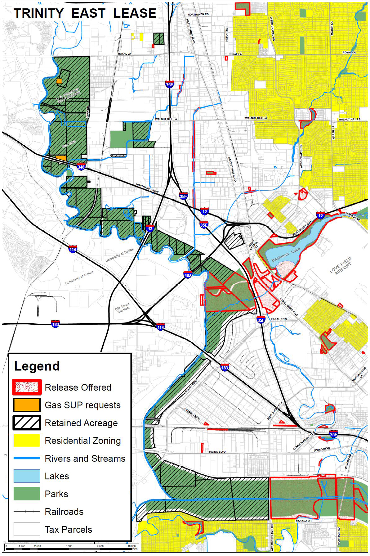 Dallas City Hall Map Bombs:Trinity East to Drill the Trinity ... on