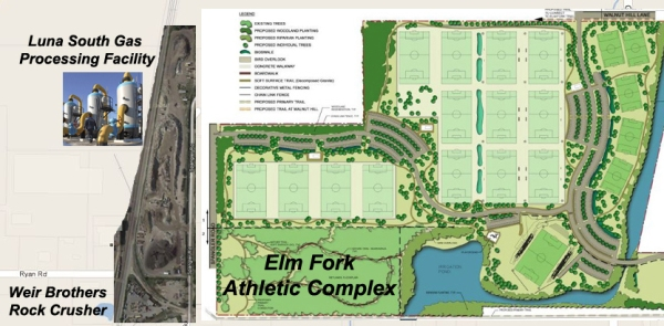 elm fork soccer complex gas refinery
